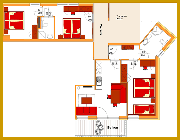 Plan und Skizze Appartement C