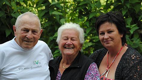 Hans, Helma und Elke Schörghofer